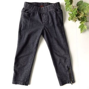 Tea pull on pants with zipper detailing, size 4